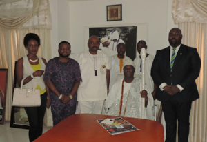 In-House Entertainment group with the Oni of Ile-Ife