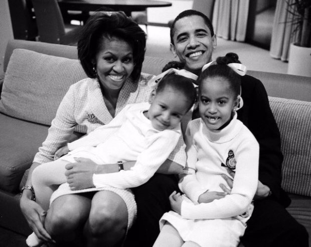 michell-obama-and-family