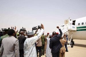 PRESIDENT BUHARI LEAVES FOR LONDON