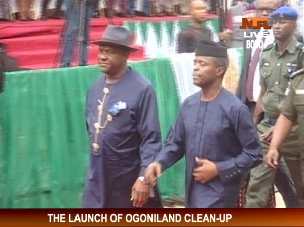 Vice President Yemi Osinbajo and Rivers State Governor, Nyesom Wike