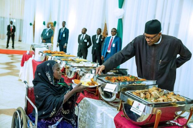 President Buhari breaks the fast with the physically challenged, IDPs