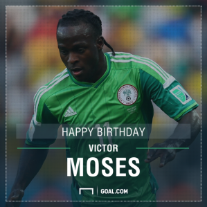 Photo credit: Goal.com Nigeria Super Eagle: Victor Moses